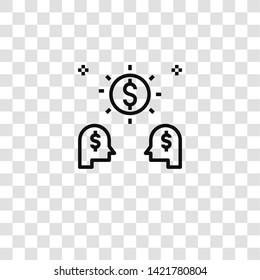 capitalism icon from  collection for mobile concept and web apps icon. Transparent outline, thin line capitalism icon for website design and mobile, app development