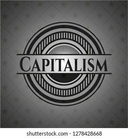 Capitalism realistic dark emblem