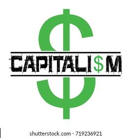 capitalism vector stamp