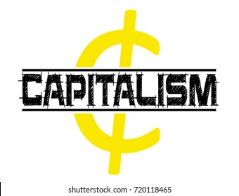 capitalism vector stamp