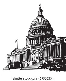 Capitol building illustration