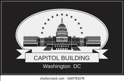 Capitol Building. Symbol of American architecture.