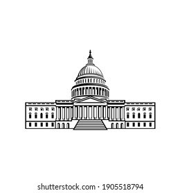 Capitol building washington DC vector illustration isolated