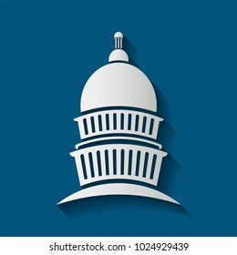 capitol congress meeting building icon,vector illustrator