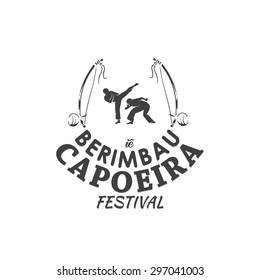 capoeira berimbau festival vector illustration
