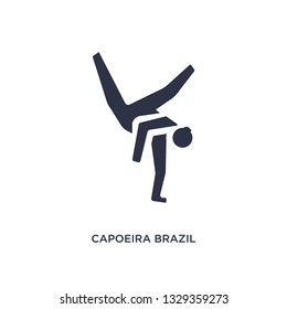 capoeira brazil dancers icon. Simple element illustration from culture concept. capoeira brazil dancers editable symbol design on white background. Can be use for web and mobile.