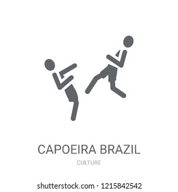 Capoeira Brazil dancers icon. Trendy Capoeira Brazil dancers logo concept on white background from Culture collection. Suitable for use on web apps, mobile apps and print media.