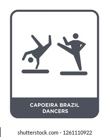 capoeira brazil dancers icon vector on white background, capoeira brazil dancers trendy filled icons from Culture collection, capoeira brazil dancers simple element illustration