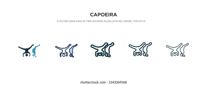 capoeira icon in different style vector illustration. two colored and black capoeira vector icons designed in filled, outline, line and stroke style can be used for web, mobile, ui