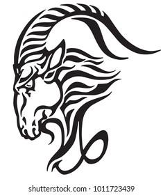 Capricorn Tattoo Zodiac Images Stock Photos Vectors