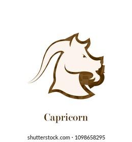 Capricorn zodiac sign geometric