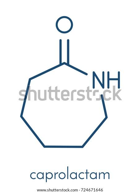 Vector de stock (libre de regalías) sobre Caprolactam