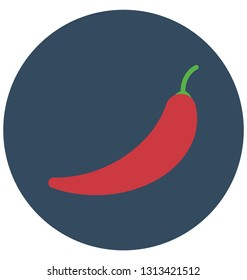 Capsaicin chili Isolated Color Vector Icon that can be easily modified or edit.
