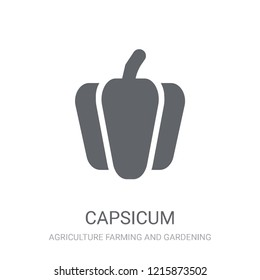 Capsicum icon. Trendy Capsicum logo concept on white background from Agriculture Farming and Gardening collection. Suitable for use on web apps, mobile apps and print media.
