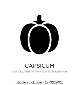 capsicum icon vector on white background, capsicum trendy filled icons from Agriculture farming and gardening collection, capsicum simple element illustration