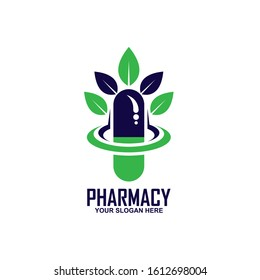Capsule pharmacy medical logo template, This logo is suitable for health business, doctor, hospital.