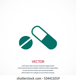 capsule vector icon, flat design best vector icon