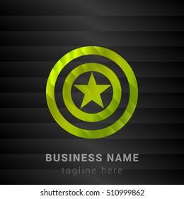Captain America Lime Green and Black silk fashion premium icon / Logo