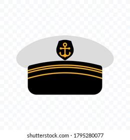 Captain hat icon. Marine hat icon vector. editable. vector illustration.