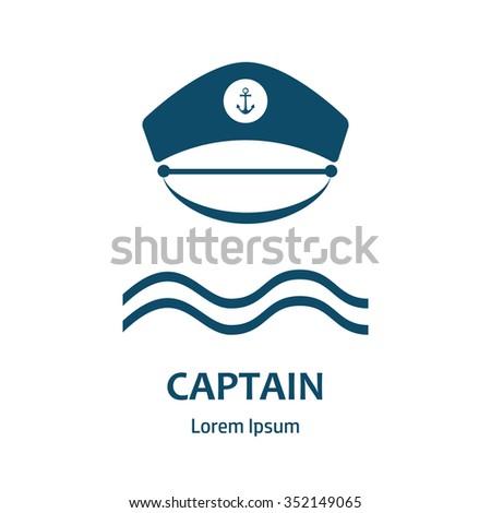 1ab4ad82 Captain hat icon. Sailor cap vector icon. Sailor captain hat isolated.  Vector illustration