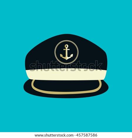 f5946831 Captain Hat Icon Sailor Cap Vector Stock Vector (Royalty Free ...