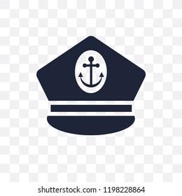 Captain Hat transparent icon. Captain Hat symbol design from Nautical collection. Simple element vector illustration on transparent background.