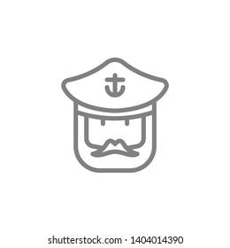 Captain icon. Element of beach holiday icon. Thin line icon for website design and development, app development. Premium icon