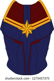 CAPTAIN MARVEL SUPERHERO SUIT RE BLUE