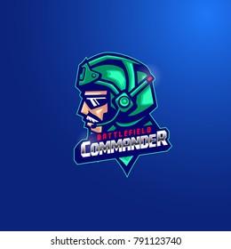 Captain pilot the commander mascot logo