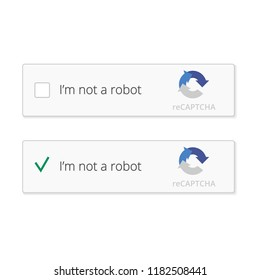 Captcha, I'm not a robot. Stock vector Illustration for your website or application