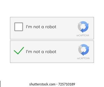 captcha i am on a robot vector computer code