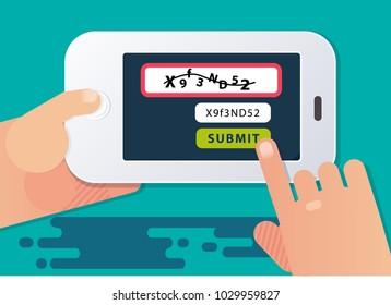 Captcha test for mobile user