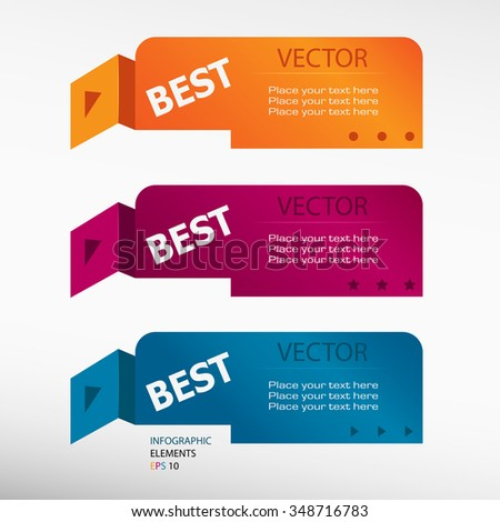 Caption Best Message On Origami Paper Stock Vector Royalty Free