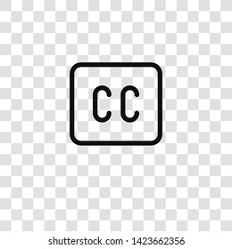 caption icon from  collection for mobile concept and web apps icon. Transparent outline, thin line caption icon for website design and mobile, app development