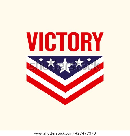 Caption Victory Stars Chevron Sign Symbol Stock Vector Royalty Free