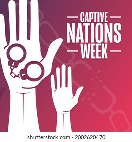 Captive Nations Week. Holiday concept. Template for background, banner, card, poster with text inscription. Vector EPS10 illustration
