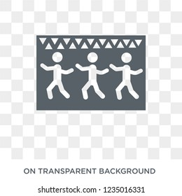 Captives to Egypt icon. Trendy flat vector Captives to Egypt icon on transparent background from Religion  collection.