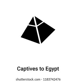 Captives to Egypt icon vector isolated on white background, logo concept of Captives to Egypt sign on transparent background, filled black symbol