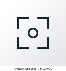 Capture icon line symbol. Premium quality isolated center focus element in trendy style.
