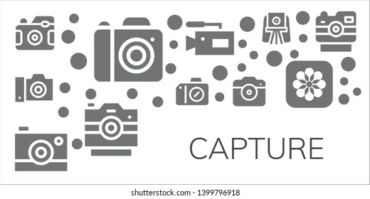 capture icon set. 11 filled capture icons.  Simple modern icons about  - Photo camera, Camera, Photos