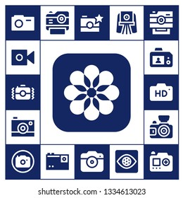 capture icon set. 17 filled capture icons.  Simple modern icons about  - Camera, Photos, Photo camera, Capture