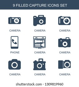 capture icons. Trendy 9 capture icons. Contain icons such as camera, phone. capture icon for web and mobile.