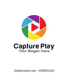 Capture Play logo design template