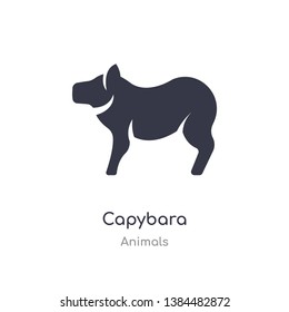 capybara icon. isolated capybara icon vector illustration from animals collection. editable sing symbol can be use for web site and mobile app
