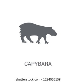 Capybara icon. Trendy Capybara logo concept on white background from animals collection. Suitable for use on web apps, mobile apps and print media.