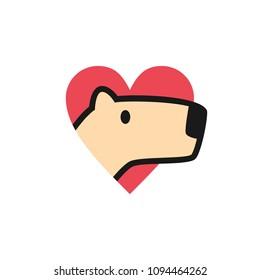 capybara love logo icon illustration