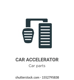 Car accelerator vector icon on white background. Flat vector car accelerator icon symbol sign from modern car parts collection for mobile concept and web apps design.