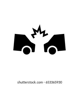 car accident icon illustration isolated vector sign symbol