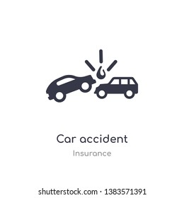 car accident icon. isolated car accident icon vector illustration from insurance collection. editable sing symbol can be use for web site and mobile app