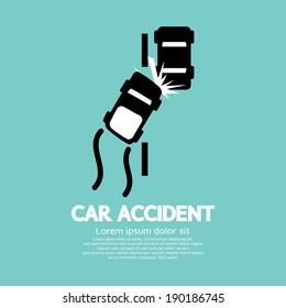 Car Accident Vector Illustration